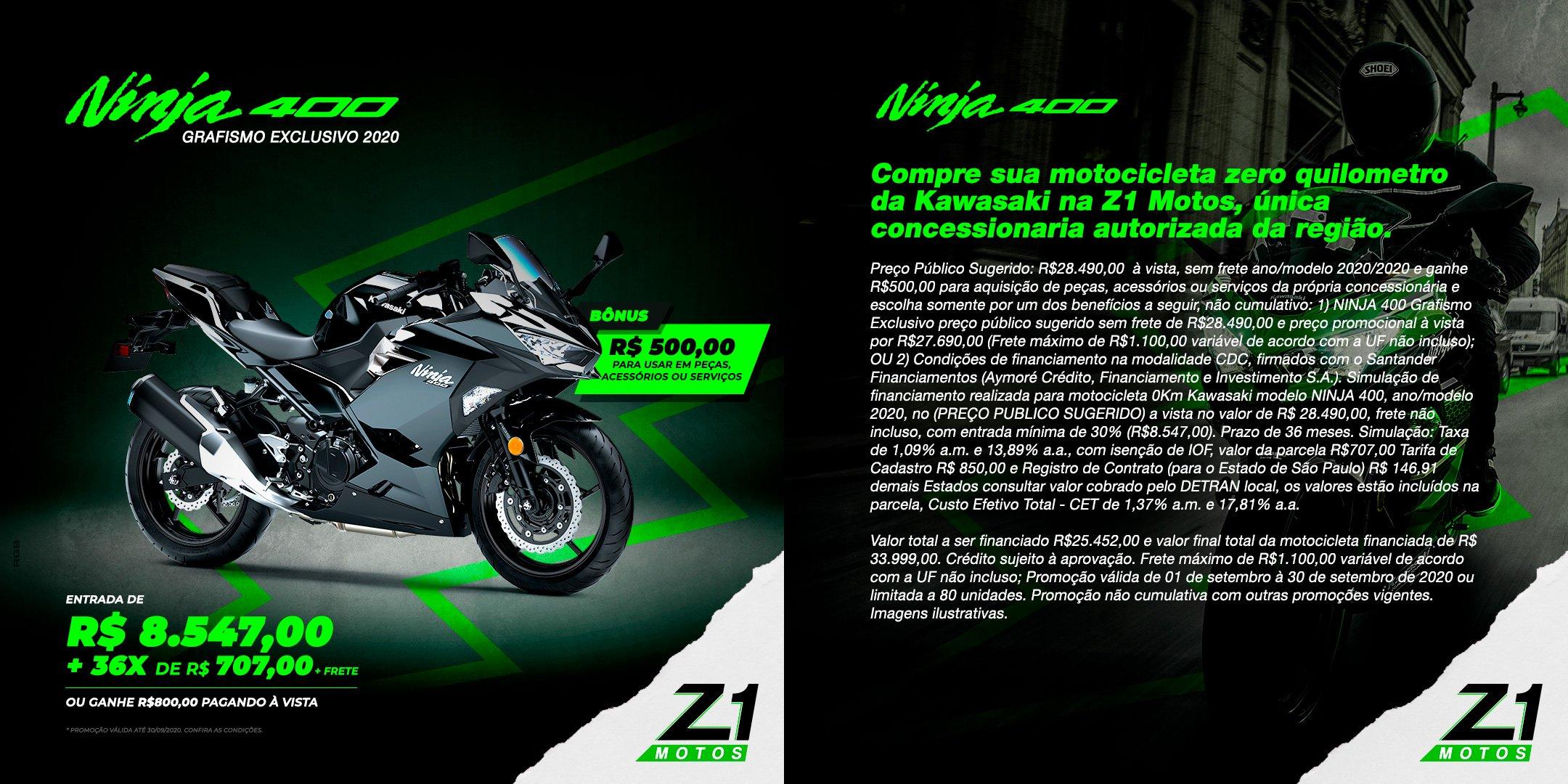 Ninja 400 - Grafismo Exclusivo 2020